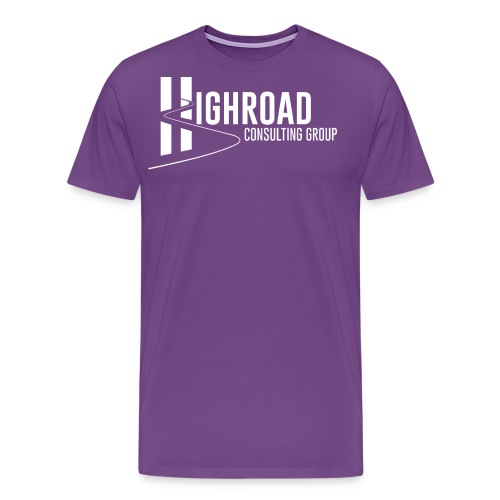 Highroad logo Overlay White - Men's Premium T-Shirt