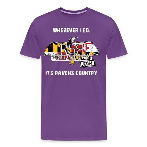 rsr logo ravens country png - Men's Premium T-Shirt