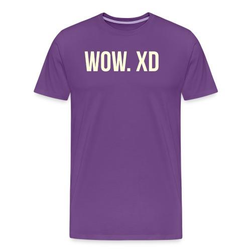 WOW. XD - Men's Premium T-Shirt