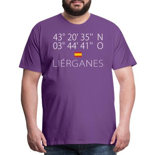 Liérganes Latitude & Longitude   Spain Civil Flag - Men's Premium T-Shirt