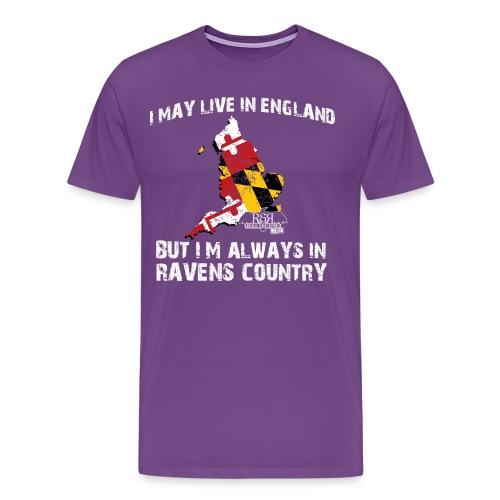 RavensCountryTee England 04 png - Men's Premium T-Shirt