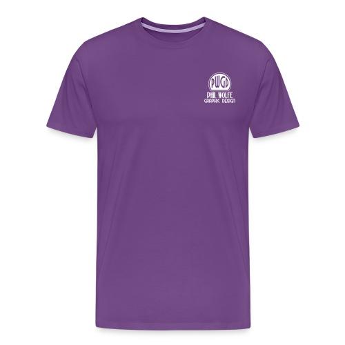 pwgd logo white - Men's Premium T-Shirt