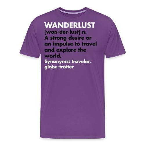 wanderlust2 - Men's Premium T-Shirt