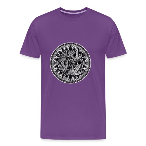 Weed Leaf Design - Men's Premium T-Shirt