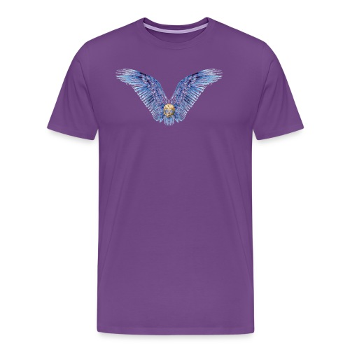 Wings Skull - Men's Premium T-Shirt