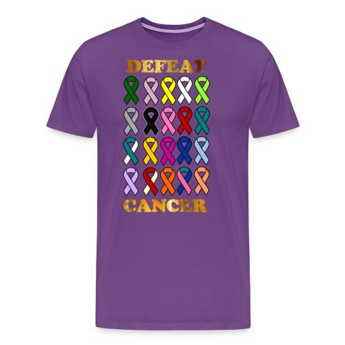 DEFEAT CANCER - Men's Premium T-Shirt