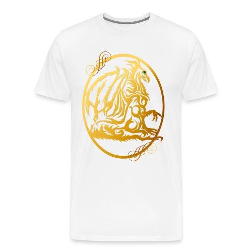 Gold Dragon Oval Design - Men's Premium T-Shirt
