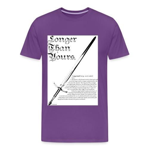 long_sword_design - Men's Premium T-Shirt