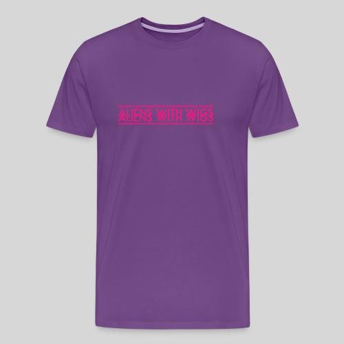 AliensWithWigs-Logo-Rose - Men's Premium T-Shirt