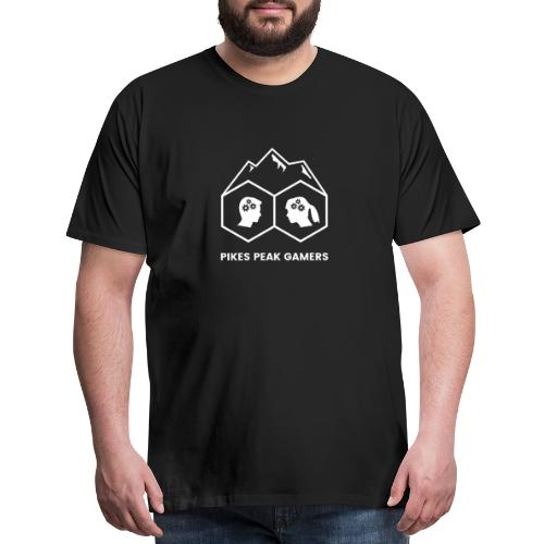 Pikes Peak Gamers Logo (Transparent White) - Men's Premium T-Shirt
