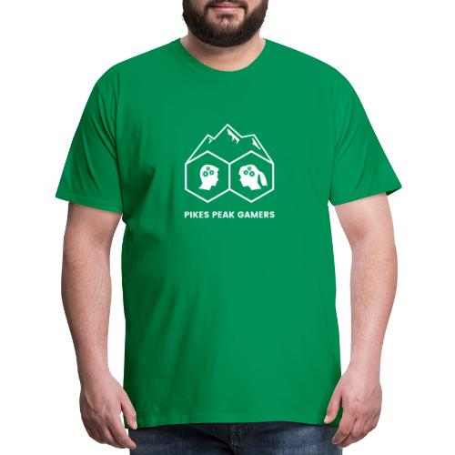 Pikes Peak Gamers Logo (Transparent White) - Men's Premium T-Shirt