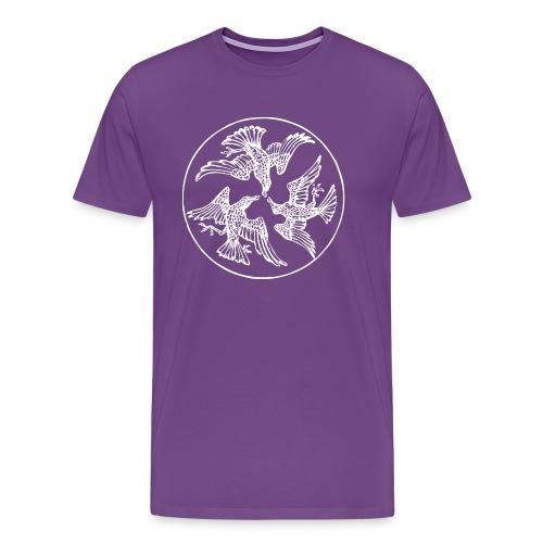 Three Crows in a Circle - Men's Premium T-Shirt