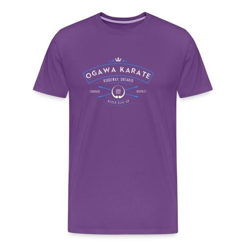 Vintage Ogawa Karate Logo Design - Men's Premium T-Shirt