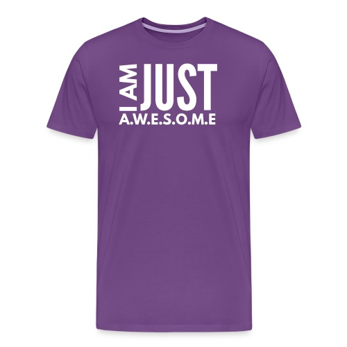 I AM JUST AWESOME - WHITE CLASSIC - Men's Premium T-Shirt
