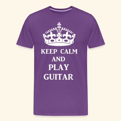 keep calm play guitar wht - Men's Premium T-Shirt