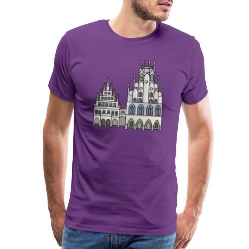 Town Hall Münster, Cityhall, Mayor - Men's Premium T-Shirt