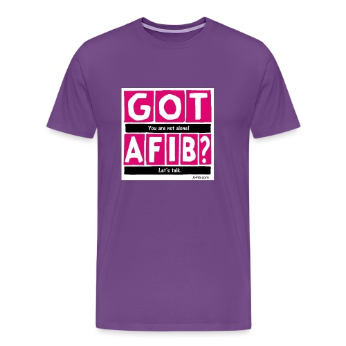 cutter got afib lets talk - Men's Premium T-Shirt