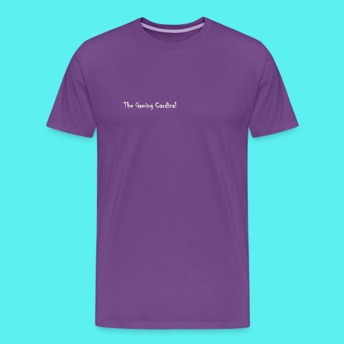 white logo text - Men's Premium T-Shirt