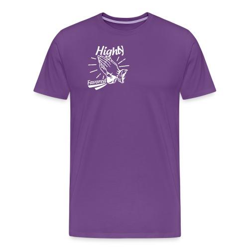Highly Favored - Alt. Design (White Letters) - Men's Premium T-Shirt