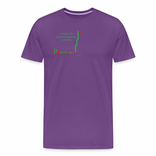 I live my life one short squeeze at a time - Men's Premium T-Shirt
