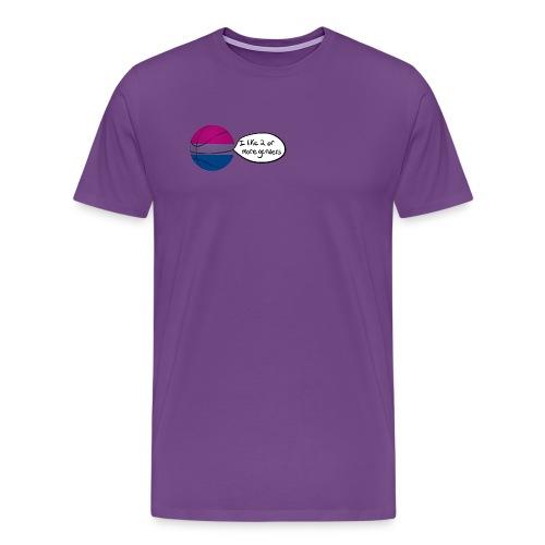 Bible/Bi-Ball Pun (For Those Who Like to Explain) - Men's Premium T-Shirt
