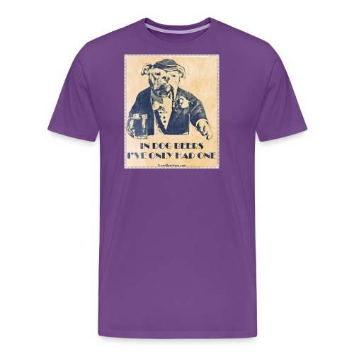 Vintage In Dog Years I've Only Had One - Men's Premium T-Shirt