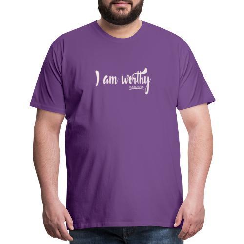 I am worth Romans 5:8 - Men's Premium T-Shirt