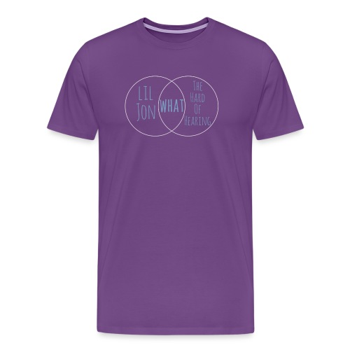 Venn Diagram: Lil Jon L - Men's Premium T-Shirt