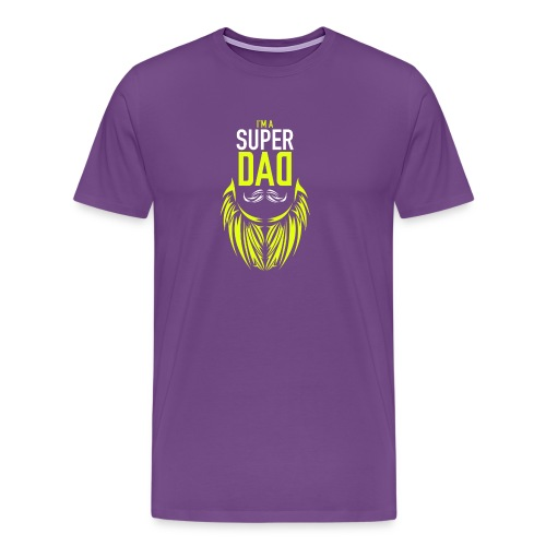 I am a super dad t shirt birthday gift father and - Men's Premium T-Shirt