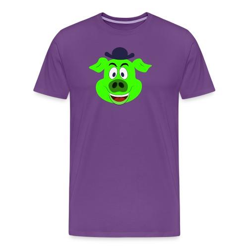 PW Pigpen logo wm png - Men's Premium T-Shirt