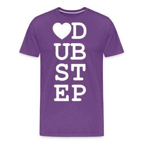 Heart Dubstep - Men's Premium T-Shirt