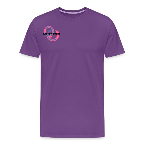 Easton Sushi Blue On Pink - Men's Premium T-Shirt