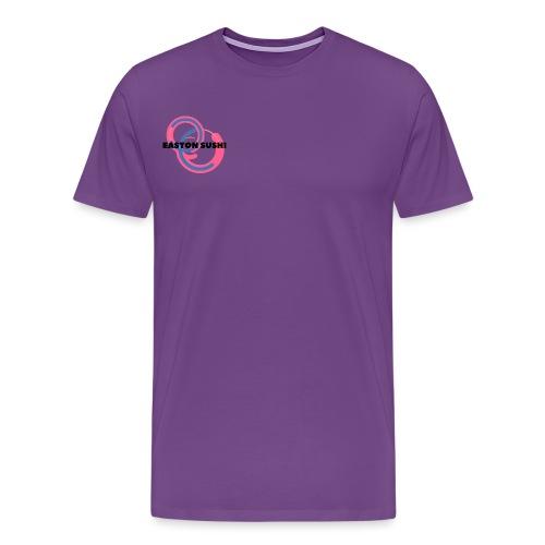 Easton Sushi Blue On Pink - Men's Premium T-Shirt