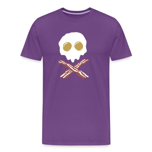 Breakfast Skull - Men's Premium T-Shirt