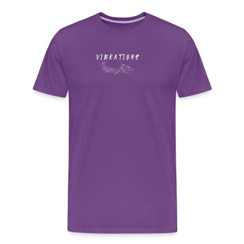 Vibrations Abstract Design. - Men's Premium T-Shirt