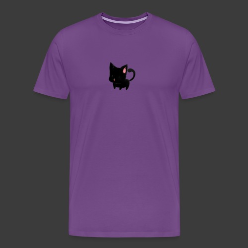 black cat hoodie - Men's Premium T-Shirt
