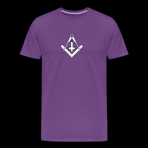 FreemasonCrossBlack - Men's Premium T-Shirt