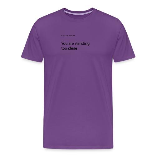 Picky Monkey - too close - Men's Premium T-Shirt