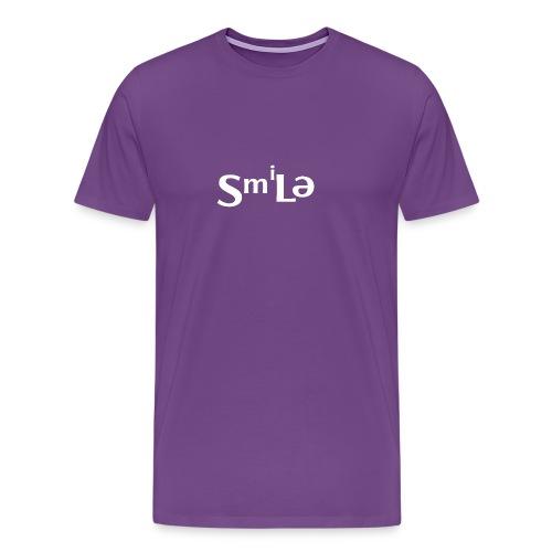 Smile Abstract Design - Men's Premium T-Shirt
