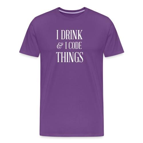 TDL - Drink and Code - Men's Premium T-Shirt