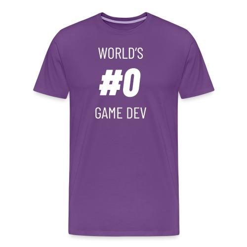 World's #0 Game Dev - Men's Premium T-Shirt
