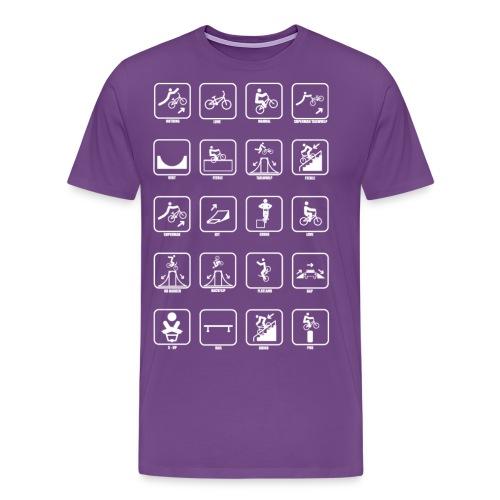 All BMX Symbols png - Men's Premium T-Shirt