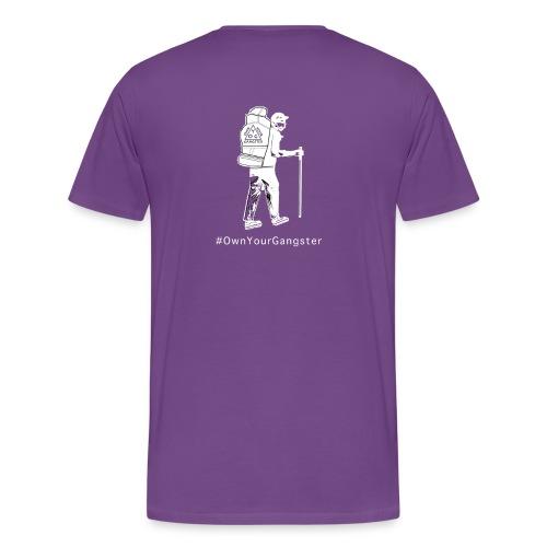 Own Your Gangster Mens & Womens T-shirt White Logo - Men's Premium T-Shirt
