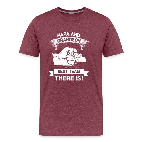 Papa and Grandson Best Team - Men's Premium T-Shirt