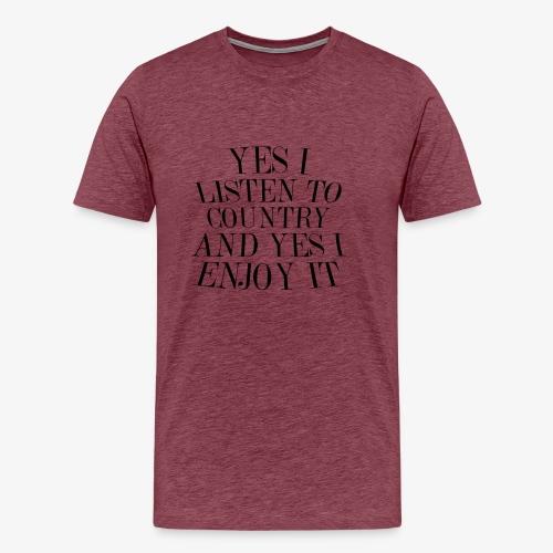 Country Listener - Men's Premium T-Shirt