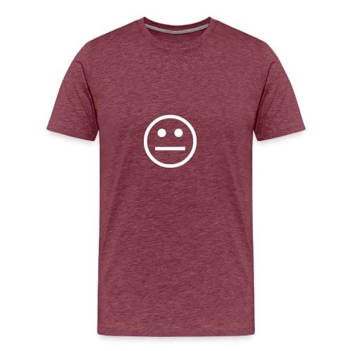 Blank Stare Face Funny Gift - Men's Premium T-Shirt