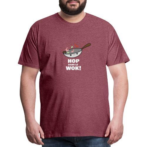 Logo Hop dans le Wok - T-shirt premium pour hommes