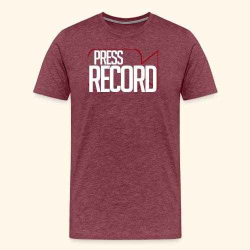 Press Record png - Men's Premium T-Shirt