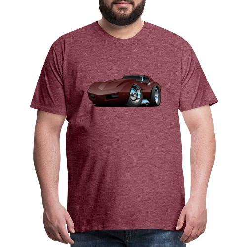 Classic Seventies American Sports Car Cartoon - Men's Premium T-Shirt