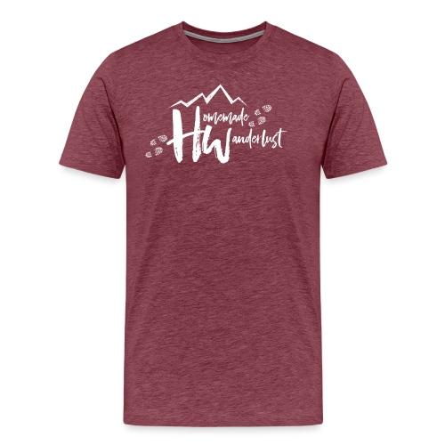 White HW Logo - Men's Premium T-Shirt